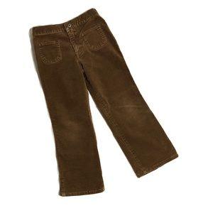 Children's Place Brown Velvet Pants Girl Size 5